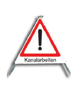 """Faltsignal """"Kanalarbeiten"""" Typ 90"""