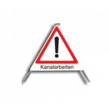 """Faltsignal """"Kanalarbeiten"""" Typ 70"""