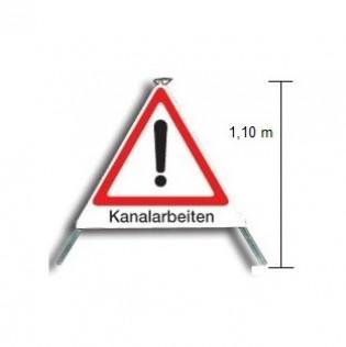 """Faltsignal """"Kanalarbeiten"""" Typ 110"""